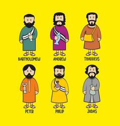 Apostles of jesus christ vector