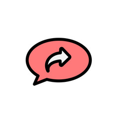 Basic chat arrow right flat color icon icon vector