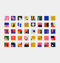 Bauhaus abstract shapes collection vector