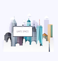 billboard with copy space text standing high over vector image