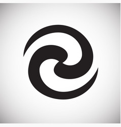 Black hole icon on white background for graphic vector