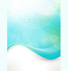 Blue green wave design vector image