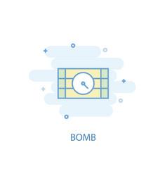 bomb line concept simple line icon colored vector image