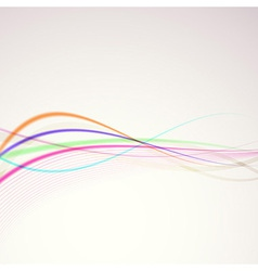 Bright colorful rainbow lines merry background vector image