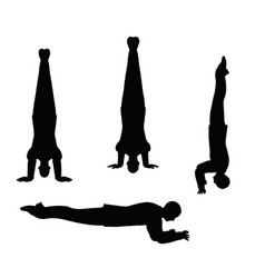 Businessman yoga pose on white background vector