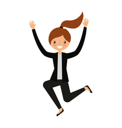 businesswoman jumping avatar character vector image