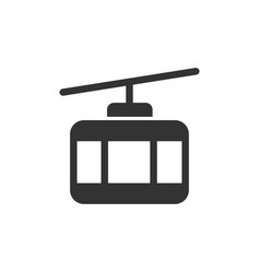 cable car front view glyph style icon vector image