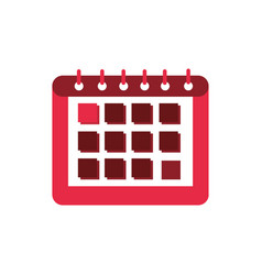 calendar reminder class education school icon vector image