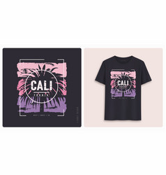 California graphic tee shirt design grunge vector