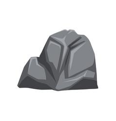 Cartoon gray stone vector