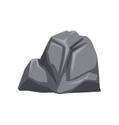 Cartoon of gray stone with vector