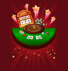 Casino gambling design vector