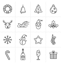 Christmas icons set - Simplus series vector image vector image