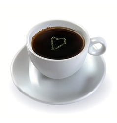 coffee with sugar heart vector image