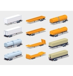 Collection of semitrailers vector