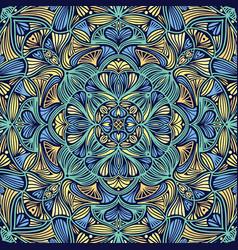 Colorful ornamental floral ethnic mandala vector