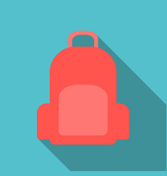 Colorful school backpack backpack vector