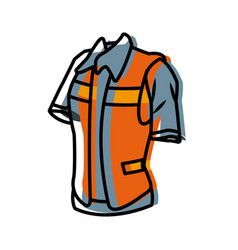 construction worker vest vector image