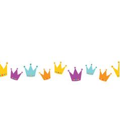 Crowns seamless border vector