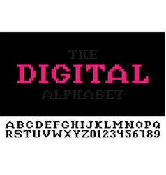 digital minimalistic pixel font - video game style vector image