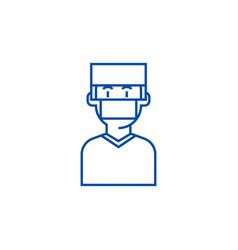 Doctorsurgery line icon concept doctorsurgery vector