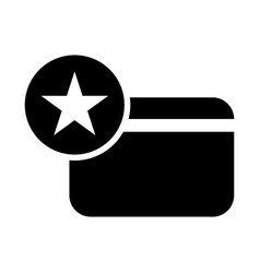 favorite credit card icon vector image