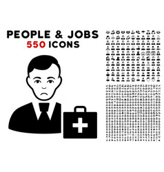 first-aid manager icon with bonus vector image