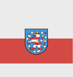 flag thuringia germany vector image