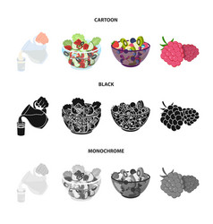 fruit vegetable salad and other types of food vector image