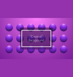 futuristic background with sphere shapes vector image