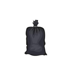 garbage black tied bag symbol cartoon vector image