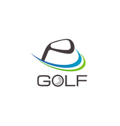 golf logo design symbol icon vector image