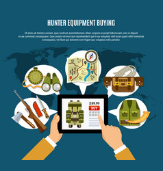 hunter equipment composition vector image