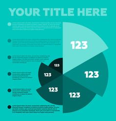 infographics elements pie chart vector image