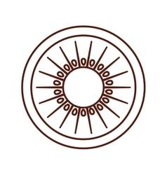 Kiwi fresh fruit isolated icon vector
