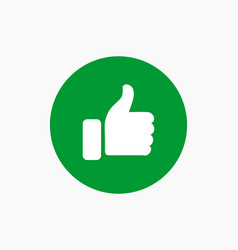 Like button icon vector