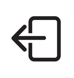 Logout sign icon vector