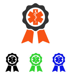 medical seal flat icon vector image