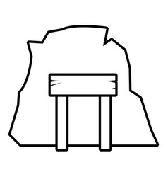 mine enter icon outline style vector image