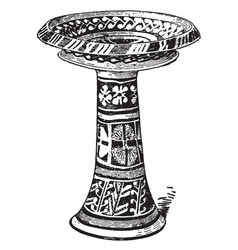 Minoan pottery is a large minoan vase vintage vector