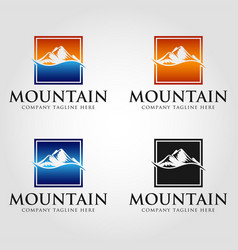 Mountain square logo template vector