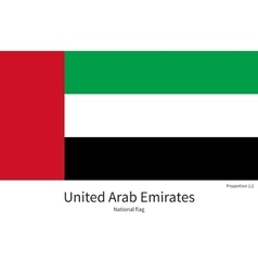 National flag of United Arab Emirates with correct vector image