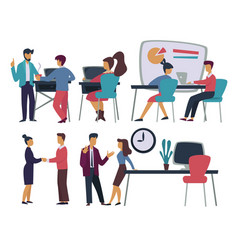 office workers business meeting and dealing vector image
