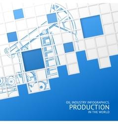 Oil pump mosaic card vector