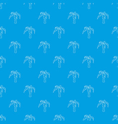 palm pattern seamless blue vector image