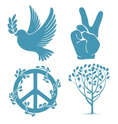 Peace set vector image