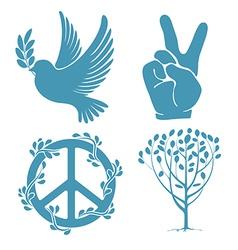 Peace set vector image