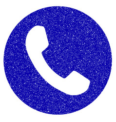 phone number icon grunge watermark vector image