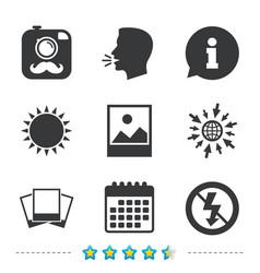 photo camera icon no flash light sign vector image