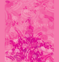 pink nature vector image